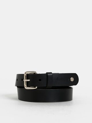 Černý kožený pásek Pieces Vania