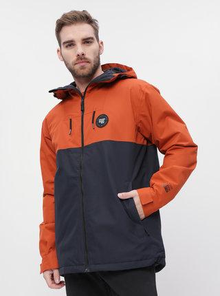 Modro-oranžová pánská funkční zimní bunda Horsefeathers Saber
