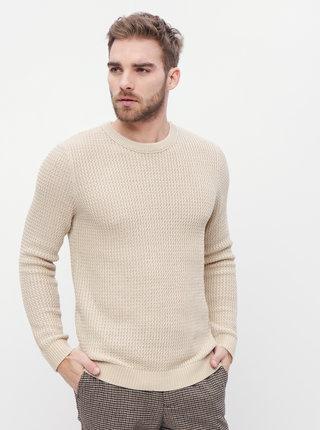 Béžový sveter Jack & Jones Flow