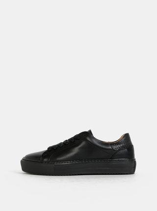 Čierne kožené tenisky VERO MODA Elli