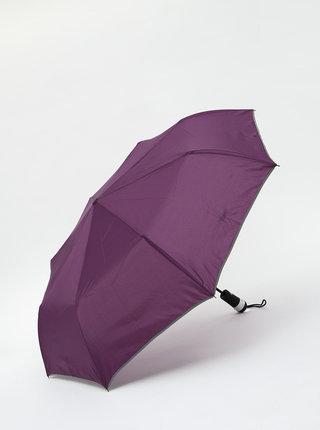 Fialový skládací vystřelovací deštník se světlem Something Special