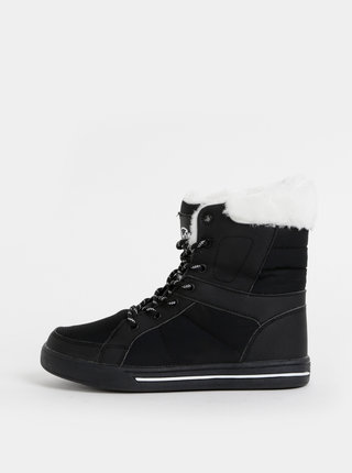 Čierne dámske členkové zimné topánky SAM 73