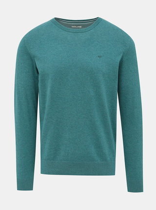 Zelený pánsky basic sveter Tom Tailor