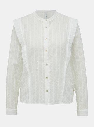 Bílá dámská vzorovaná halenka Pepe Jeans Mousse