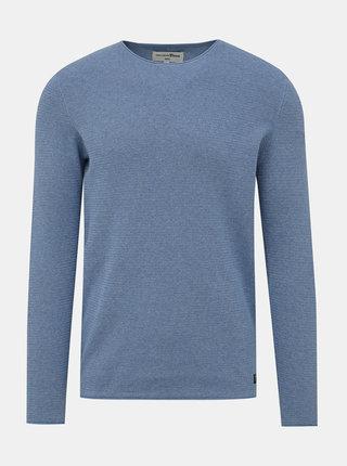 Svetlomodrý pánsky basic sveter Tom Tailor Denim