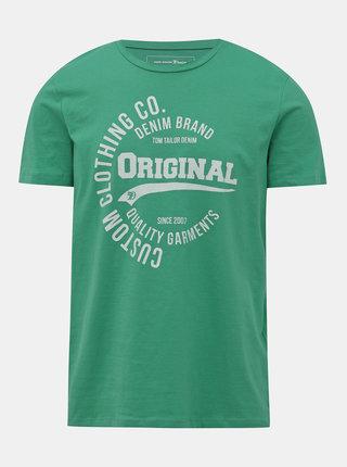 Zelené pánské tričko s potiskem Tom Tailor Denim