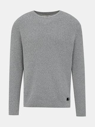Šedý pánsky basic sveter Tom Tailor Denim