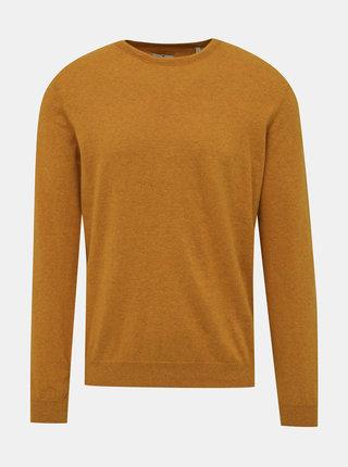 Horčicový pánsky basic sveter Tom Tailor