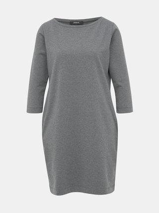 Šedé mikinové basic šaty ZOOT LOLA