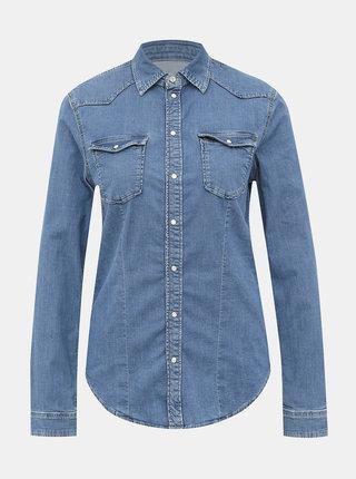 Modrá dámska rifľová košeľa Pepe Jeans Rosie