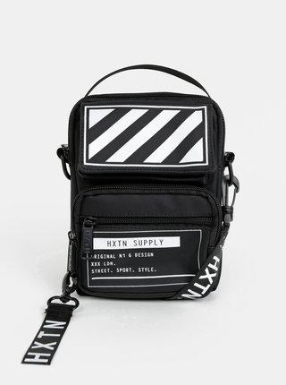 Černá crossbody taška s potiskem HXTN Supply Utility