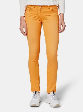 Oranžové dámske slim fit rifle Tom Tailor