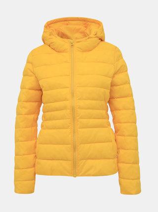 Žlutá dámská prošívaná zimní bunda Haily´s Dora