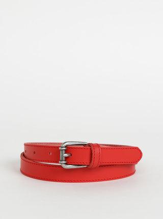 Červený dámský kožený pásek OJJU