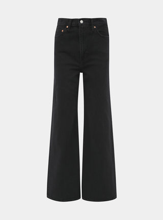 Černé dámské straight fit džíny Levi's® Ribcage