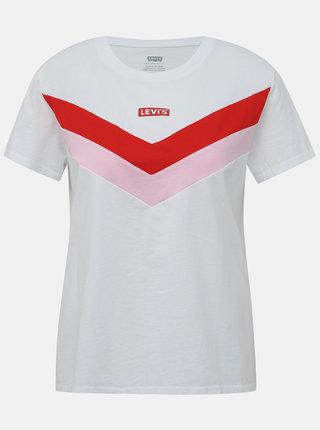 Červeno-biele dámske tričko Levi's®