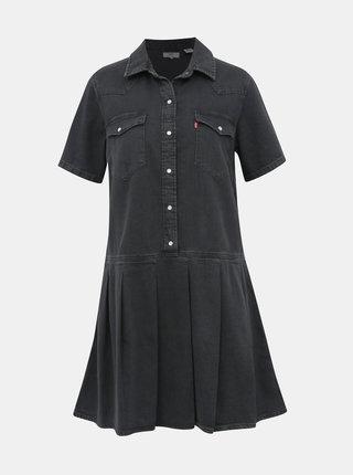 Černé džínové košilové šaty Levi's®