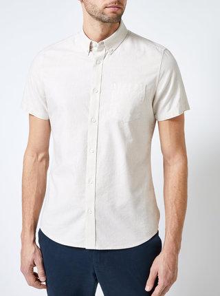 Béžová košeľa s krátkym rukávom Burton Menswear London