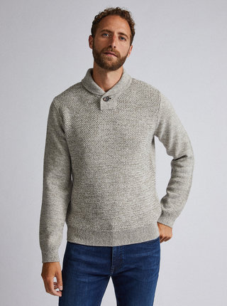 Šedý sveter s prímesou vlny Burton Menswear London