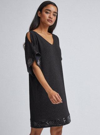 Čierne trblietavé šaty Billie & Blossom Petite