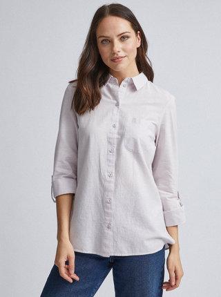 Světle fialová košile s příměsí lnu Dorothy Perkins
