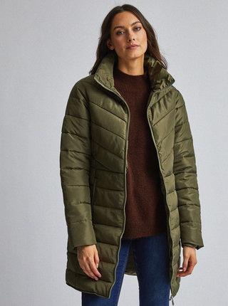 Kaki prešívaný kabát Dorothy Perkins