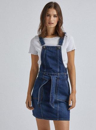 Tmavomodré rifľové šaty s trakami Dorothy Perkins