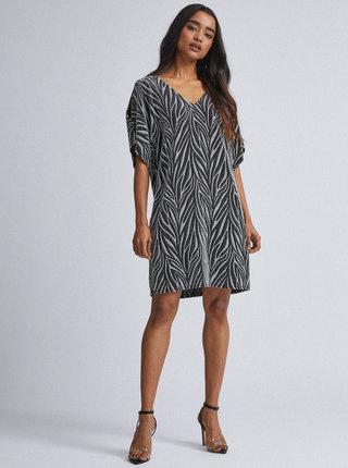 Vzorované trblietavé šaty v čiernej a striebornej farbe Billie & Blossom Petite