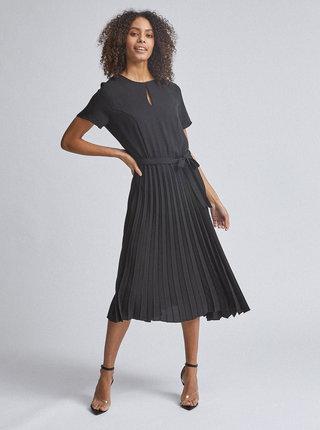 Černé plisované midišaty Dorothy Perkins
