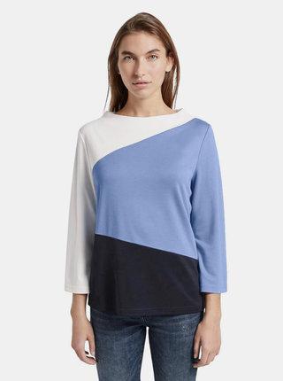 Bílo-modré dámské tričko Tom Tailor