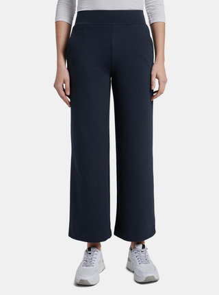 Tmavomodré dámske široké nohavice Tom Tailor