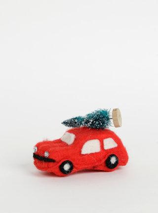 Červená vánoční dekorace Sass & Belle Car