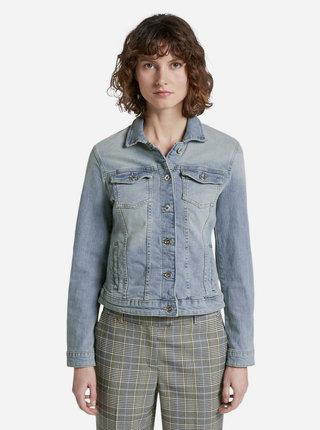 Světle modrá dámská džínová bunda Tom Tailor