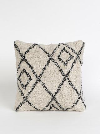 Béžový vzorovaný polštář Sass & Belle Berber