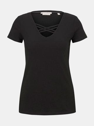 Čierne dámske tričko Tom Tailor Denim