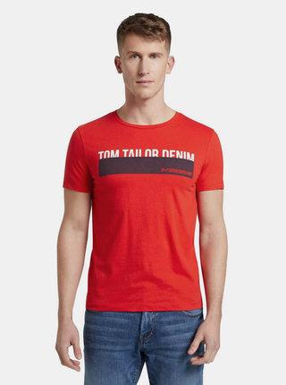 Červené pánske tričko s potlačou Tom Tailor Denim