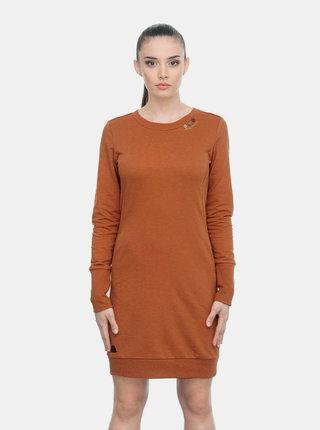 Hnedé mikinové šaty Ragwear Menita