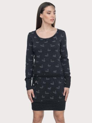 Tmavomodré vzorované šaty Ragwear Alexa Swans