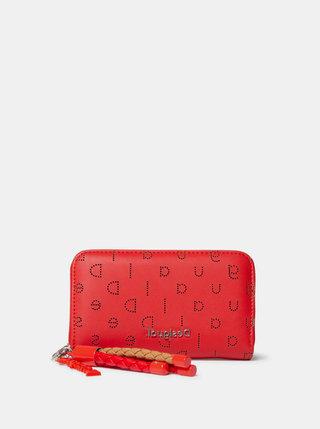 Červená vzorovaná peněženka Desigual
