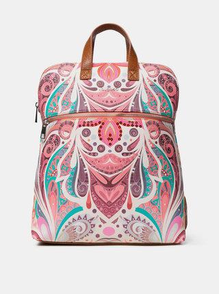 Růžový vzorovaný batoh Desigual