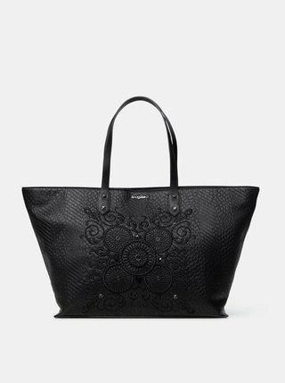 Čierna vzorovaná kabelka Desigual