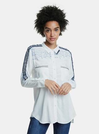 Bílá košile s lampasem Desigual