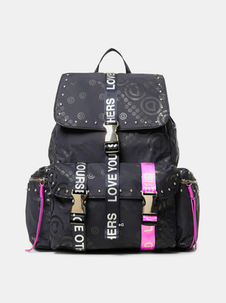 Tmavomodrý vzorovaný batoh Desigual