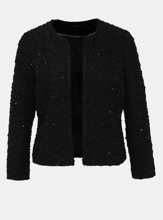 Černé sako s flitry M&Co