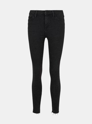Černé dámské  zkrácené skinny fit džíny Tom Tailor Denim