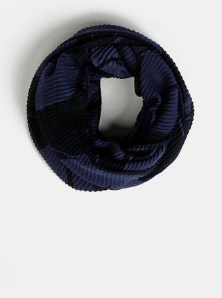 Tmavě modrý dámský vzorovaný šátek Tom Tailor