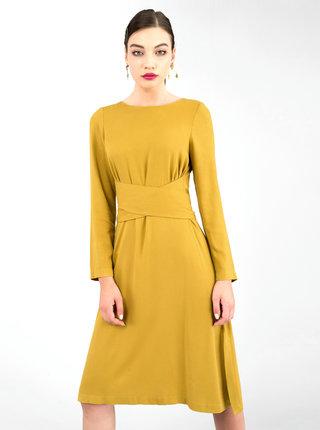 Horčicové šaty Closet