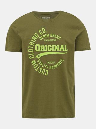 Khaki pánské tričko s potiskem Tom Tailor Denim