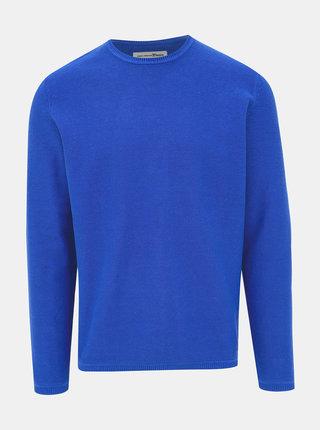Modrý pánsky basic sveter Tom Tailor Denim
