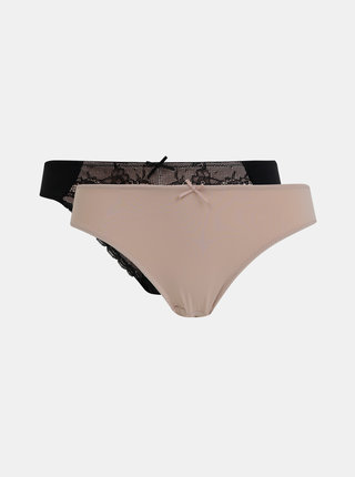 Sada dvoch nohavičiek v čiernej a rúžovej farbe Dorina Chloe